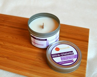 Ultraviolet - natural rapeseed wax candle - Palm Free - Cruelty Free - dead Free