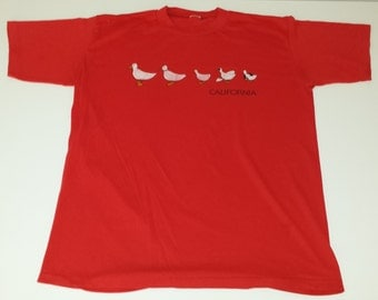 Vintage 50/50 California Duck Graphic super soft thin souvenir tshirt size M/L