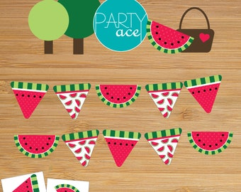 Watermelon Printable Picnic Summer Party Banner