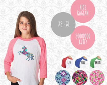 Unicorn Youth Girls Raglan