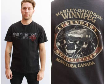 Harley Davidson Tee, Winnipeg / Size L