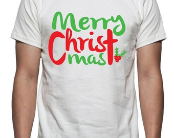 Merry Christmas Tee Shirt Design, SVG, DXF, EPS Vector files for use with Cricut or Silhouette Vinyl Cutting Machines