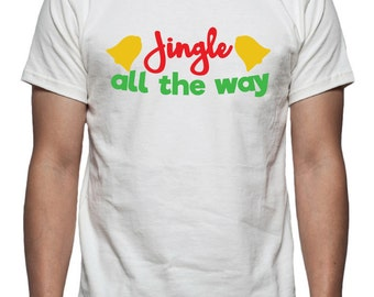 Jingle all the way Tee Shirt Design, SVG, DXF, EPS Vector files for use with Cricut or Silhouette Vinyl Cutting Machines