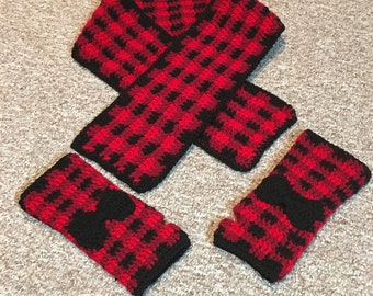 Scarf and arm warmer set
