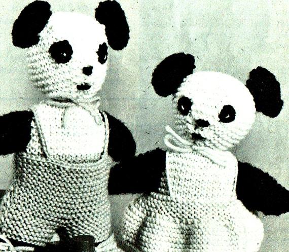 Vintage Teddy Bear Knitting Pattern Vintage Toy - Adidum
