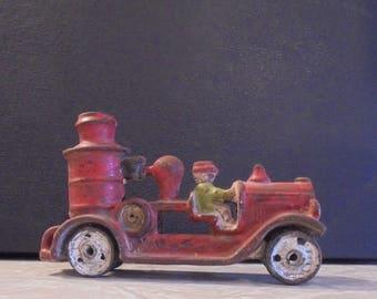 Cast Iron Fire Engine Antique Toy