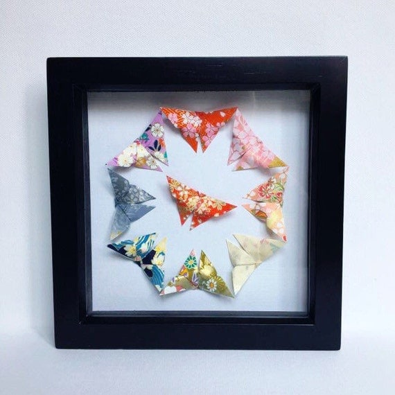Origami butterfly wall decor : Origami butterfly wall art japanese
