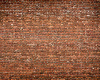 Red Brick Backdrop - red brick wall - Printed Fabric Photography Background G1540