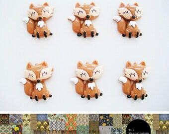 Fox Fridge Magnet Set