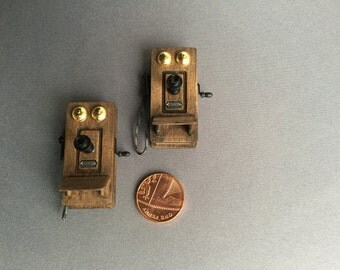 Miniature 1/12 scale telephone