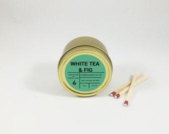 Mini White Tea & Fig Tin Soy Candle (2 oz. )