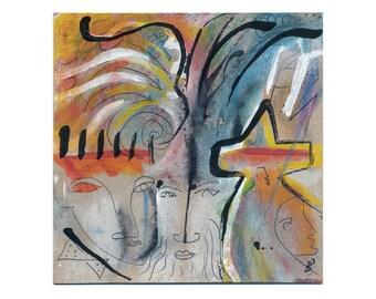 Modern painting - modern art - modern pictures 15/15 cm (5.9/5.9 inch)