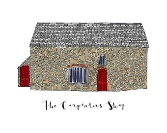 The Carpenter's Shop, a Landmark Trust building - A6 Greeting Card, A4 Digital Print
