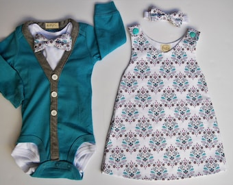 SALE - Boy and Girl Twin Set