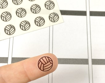 48 Clear Volleyball Planner Stickers, Volleyball Icon Stickers, Transparent Volleyball Stickers, Clear Planner Stickers