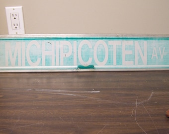 Michipicoten Av. Street Sign, Vintage Road Sign