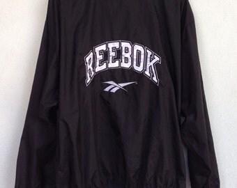 Vintage Reebok big logo windbreaker zip up M