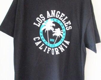 Los angeles california black tee S-2XL t shirt