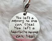 Memorial Pendant - Clip On - Ready to Wear
