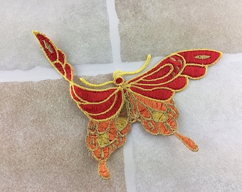 Embroidered Butterfly Applique (only sew on)