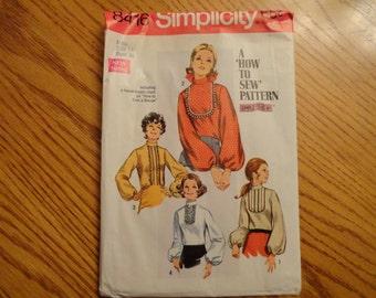 Simplicity 1969 Vintage Blouse Pattern Size 14