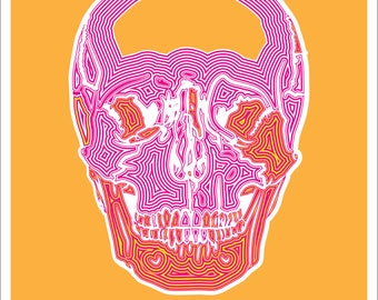 Human Skull Print