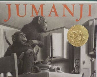 Jumanji Hardcover Book 1981 by Chris Van Allsburg vintage