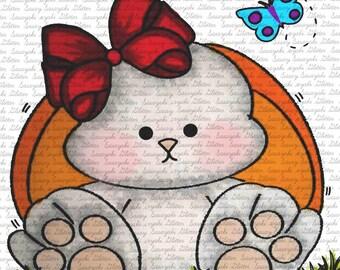 Cute Bun Digital Stamp by Sasayaki Glitter