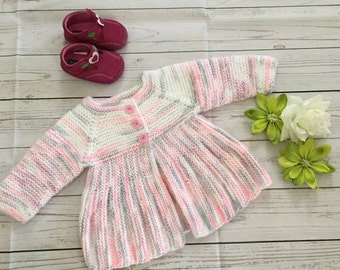 Baby Handmade sweater size 6 - 12 months,Baby Handmade Knitted jacket 6-12m,Baby Gift Jacket