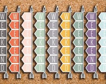9 BOUND FLEX Weekend Banner Stickers for 2017 Inkwell Press IWP-HS11