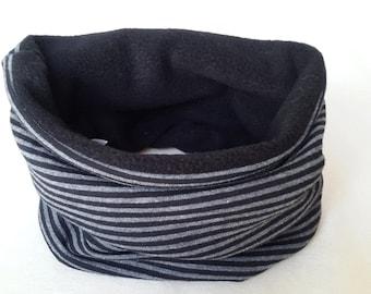 Children's Snood   Stripes Black