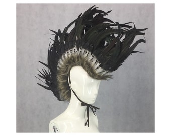 how to make a feather mohawk