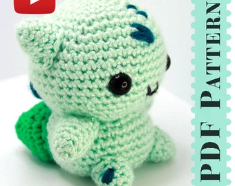Bulbasaur Amigurumi Crochet Tutorial Companion Pattern