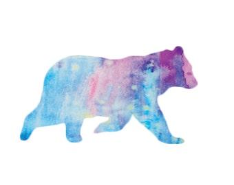 Polar Bear gift card for Friend Holiday note card Watercolor Art Print Bear Animal lovers print