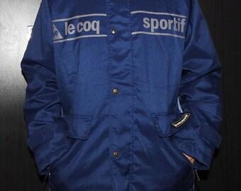 Vintage Le Coq Sportif Jacket Size XL-XXL Rare Outdoor Windbreaker Warm-Up Training