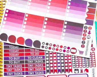 Berry Mini Weekly Kit - Weekly Planner Stickers - Weekly Sticker Kit - Planner Stickers