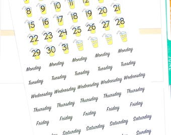 Lemonade Date Covers - Date Cover ups - Planner Stickers - Summer Stickers - Date Cover Planner Stickers