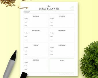 The Meal Planner - Single Insert - The Ultimate Planner
