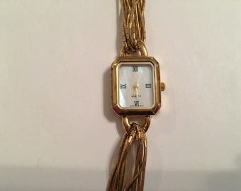 Vintage Liquid Sterling Silver Yellow Gold Plated Watch