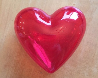 Valentine's Day plastic heart containers
