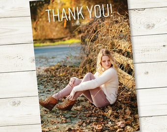 Graduation Thank You Cards Printable Thank Yous Personalized Custom Thank You Cards Full Photo Thank You Notes Wedding Baby Shower Bridal