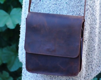 MESSENGER BAG, business bag, businessman bag,shoulder bag,bag for small items,bag for all day,hand made in GREECE,made from leather calf