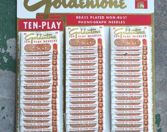 Goldentone Record Needle Tabletop Display (Complete Set)