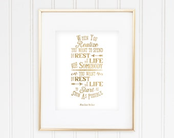 When Harry Met Sally - When you Realize - Real Gold Foil