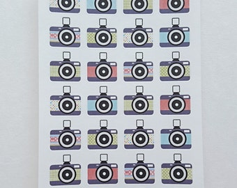 Pastel Colored Camera Stickers