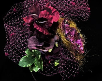 Custom Fascinator with Cage (Colors can be made-to-order)