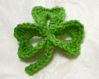 Crochet Shamrock, XL Shamrock, St Patrick's, Party Decor