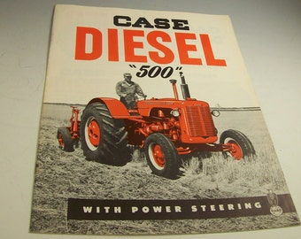 CASE DIESEL Farm Tractor 500 Series Orig. BROCHURE