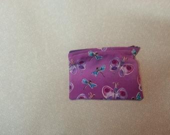 Small Purple Butterfly Change/Jewelry Purse