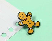 SALE* Gingerbread Boy Enamel Pin with clutch back // christmas // EP161